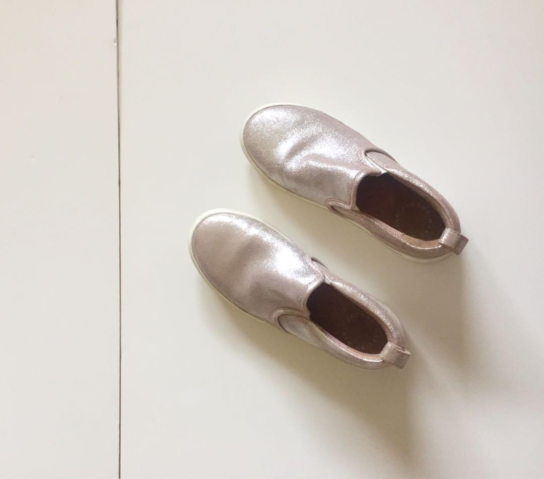Marc by Marc Jacobs Metallic Pink Slip Ons