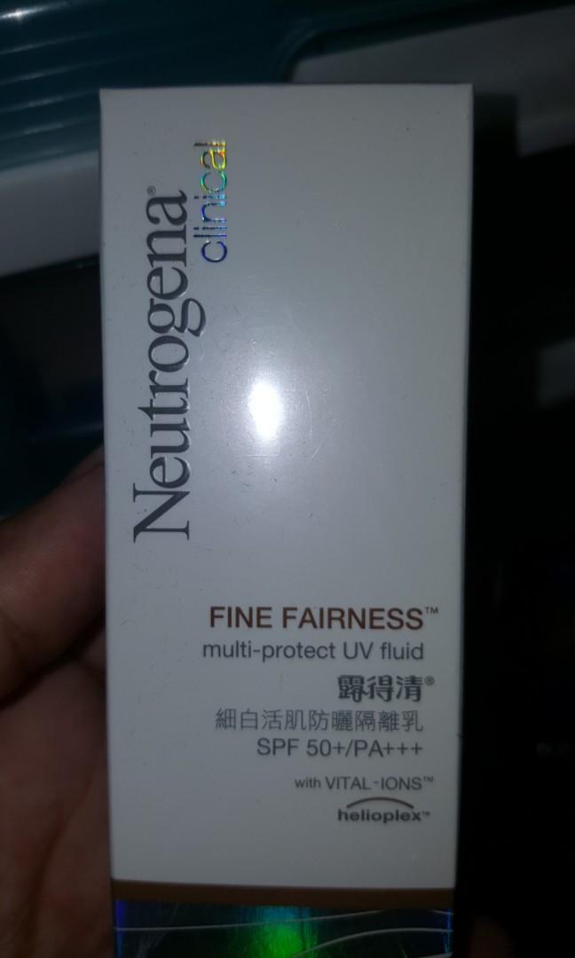 Neutrogena fine fairness uv fluid