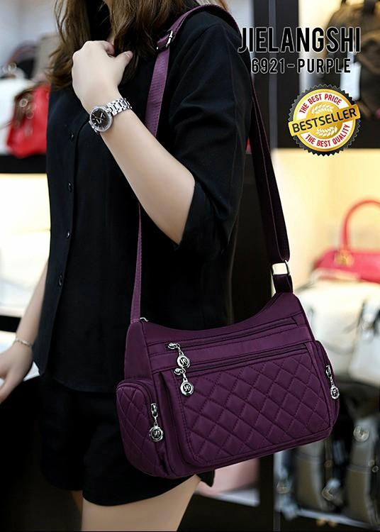 New Arrival 👉 Sling Bag Fashion *JIELANGSHI* 6921,st# Material Parasute Import Quality Ori Hongkong 👍 (400 gram) 28x12x20 (4 Wrn) Best Sellerrr Buruannn Yaaa 👍👍