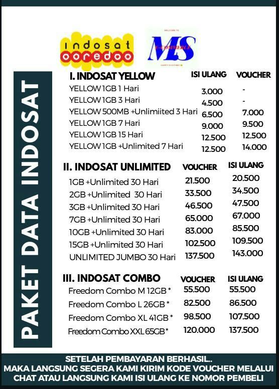 Paket Murah Indosat Tickets Vouchers Gift Cards