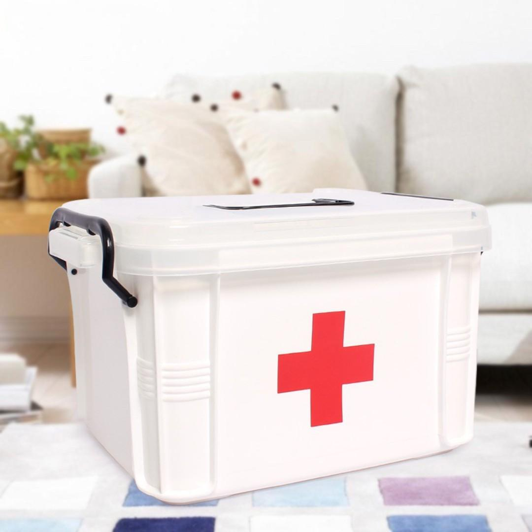 Plastic Medicine Box Household Baby Medicine Chest Medical Box Medicine Storage Box Multi-Layer Box