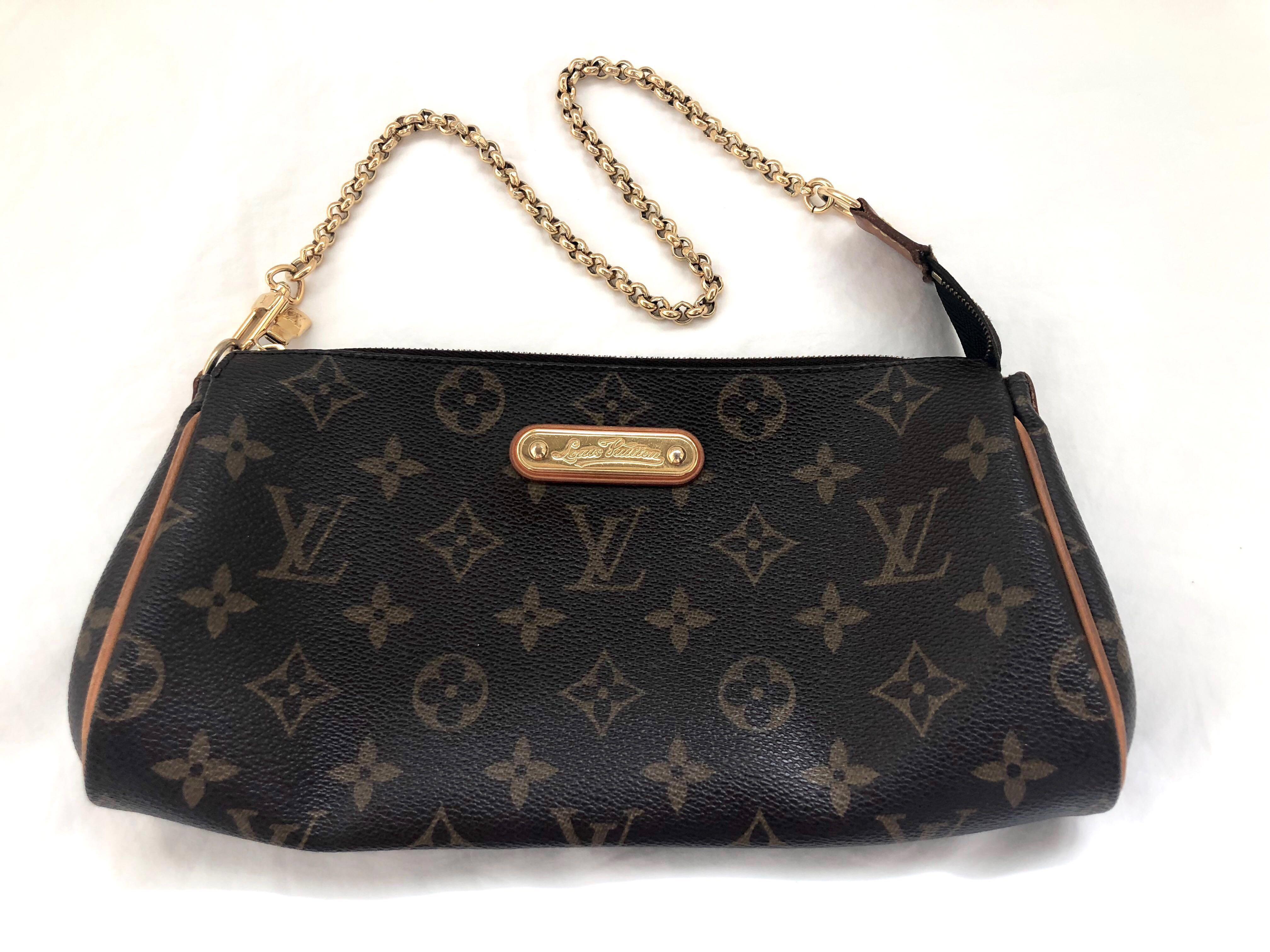 5a8373b22860 Preloved Authentic Louis Vuitton Eva Clutch