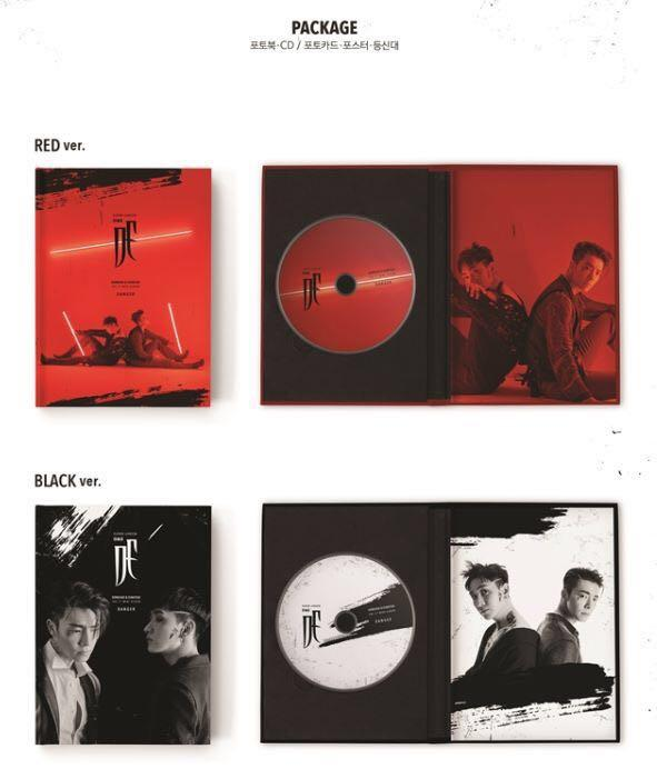 [Pre-order] SUPER JUNIOR D&E 슈퍼주니어 (3RD 미니앨범 MINI ALBUM) - DANGER (RED VER. || BLACK VER.)
