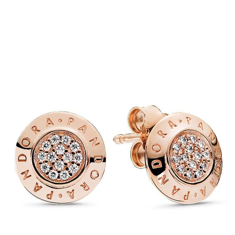 Rose gold earring 925 Italy silver on Carousell