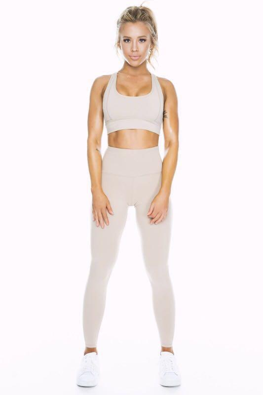 SASKI COLLECTION BY TAMMY HEMBROW BEIGE HIGHWAISTED TIGHTS LEGGINGS XS 6 BNWT