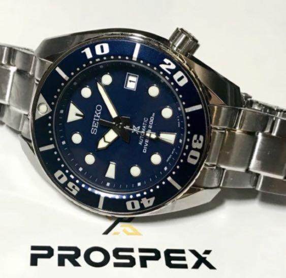 big sale 3c83a 54be1 Seiko Prospex Sumo Blue Diver SBDC033, Luxury, Watches on ...
