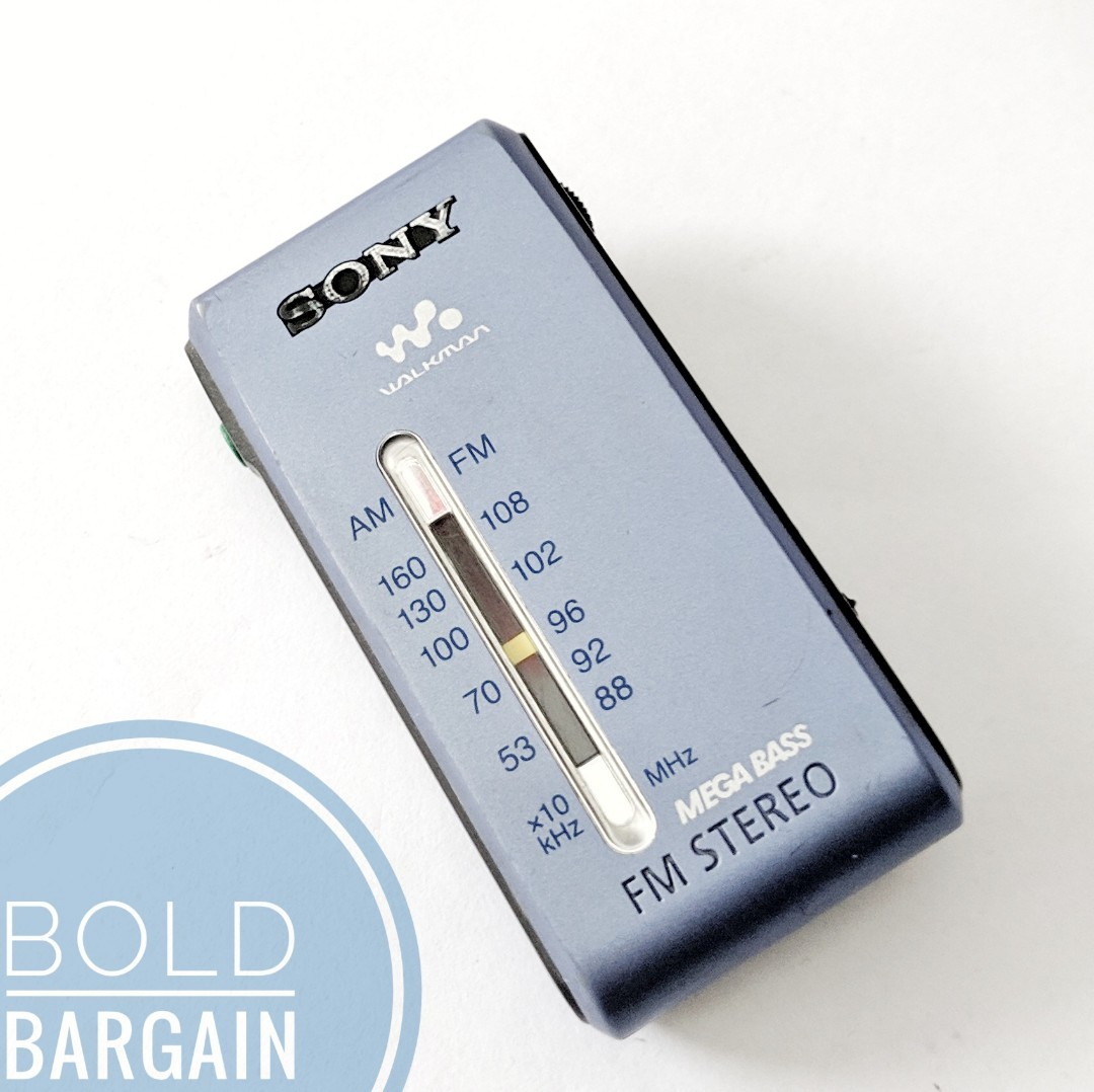 SONY SRF-S84 Mini FM Stereo Radio With Megabass