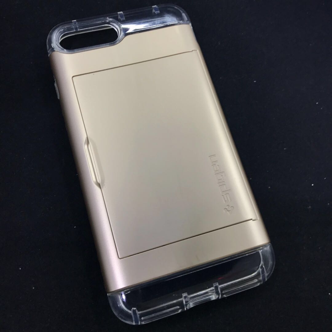 cheaper 59665 2b82f Spigen Crystal Wallet Case for iPhone 7+/8+ (Gold)
