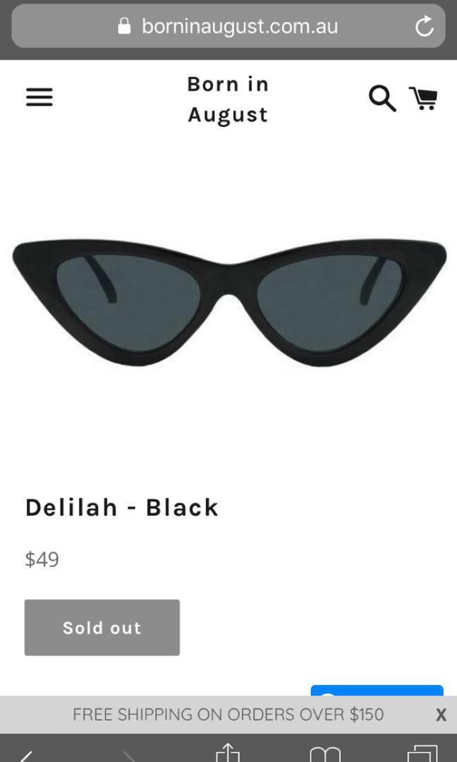 Sulu the Label Delilah skinny cateye sunglasses  - sold out RRP $49