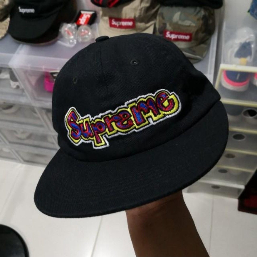 87ed721b Supreme SS18 Gonz Logo 6-Panel Hat, Men's Fashion, Accessories, Caps ...