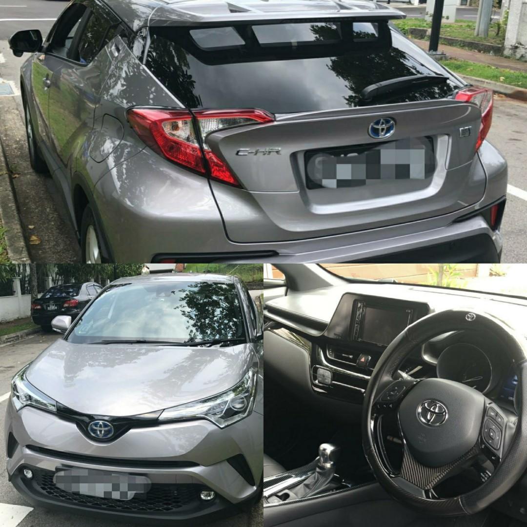 New Toyota CHR Hybrid for rent/LTO
