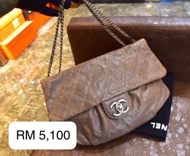 【Weekend Sale】Authentic Pre-loved Chanel Distressed Calf Leather Shoulder Bag