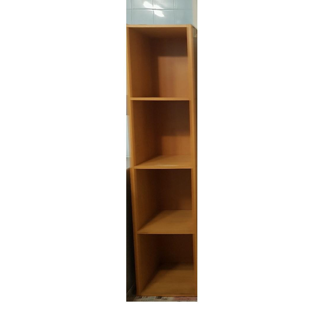 Wooden 4 tier book cupboard for sale