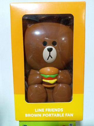 McDonald's x Line Friends Brown Portable Fan 熊大風扇