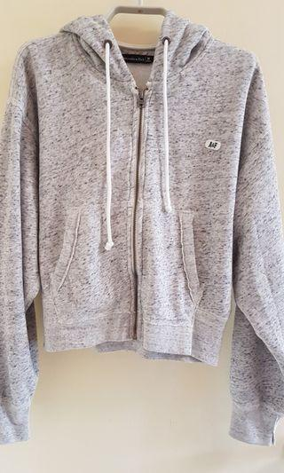 Abercrombie & Fitch zip up hoddie jacket sweater holister 新款拉鏈連帽外套衛衣