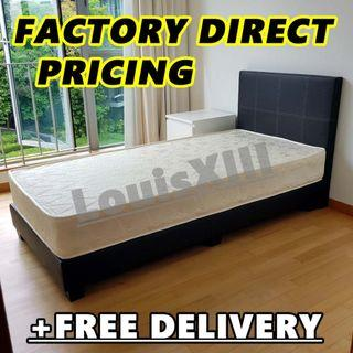 BN Super Single Spring Mattress + Bedframe