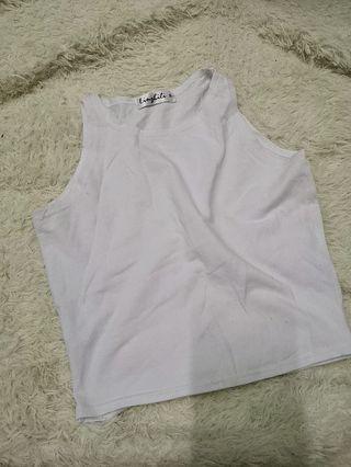 White Crop singlet