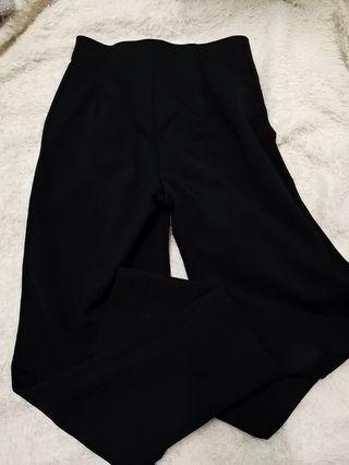 Black slack high waist