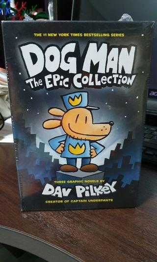 🚚 BN Sealed Pilkey Dog Man The Epic 3 in Box Hardcover
