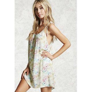 NWT Size M Forever 21 F21 Boho Tie Dye Festival Beach Cover-Up #endgameyourexcess