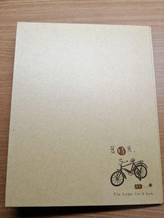 🚚 舊時光 A5 6孔公文鐵夾(牛皮) 活頁筆記夾