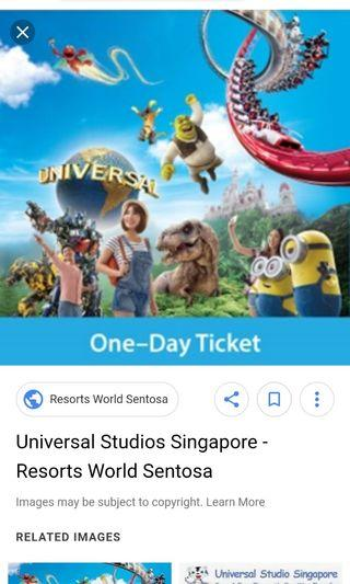 🚚 Universal studio ticket