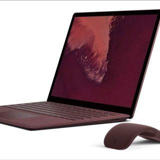 Microsoft Surface Laptop 2 in Burgundy. Core i5, 8gb ram, 256gb ssd