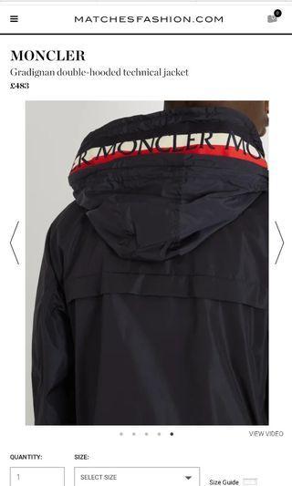 Moncler Gradignan Double Hooded Technical Jacket