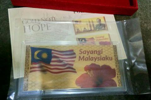 24k Gold note of Hope coin