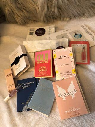 Lot of various Women's and Men's fragrance samples