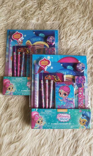 Shimmer & Shine 11 piece stationery set