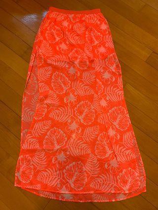 H&M printed chiffon skirt 雪紡 印花裙