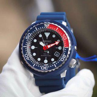 BNIB Seiko Solar Padi Shrouded Divers Blue Dial SNE499P1 SNE499P SNE499 Men Watch