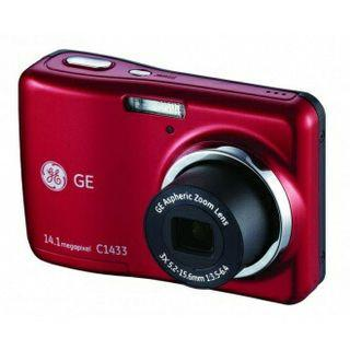 GE C1433 Digital Camera  (Red)