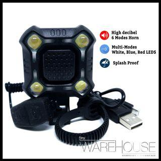 Multi-coloured LED Front Light with HORN for FIIDO/MTB/DYU/AM/VENOM