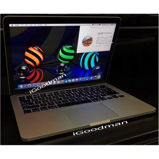 """Macbook Pro 13"""" 2015 256gb SSD Force Touch Trackpad Apple Retina Display Screen, Magsafe 2 60w charger."""