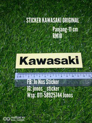 Sticker kawasaki original