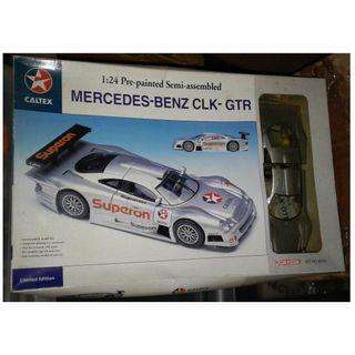 絕版 1999年 Dragon 1/24 Pre-painted Semi-assembled Mercedes-Benz CLK-GTR Caltex 限量版 Limited Edition Model Kit 模型1盒