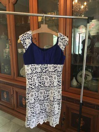 Blue dress korean