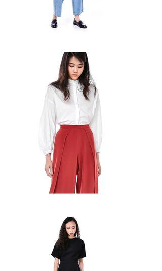 🚚 - WHITE BLOUSE WITH PUFFED SLEEVE FROM EDITOR's MARKET -