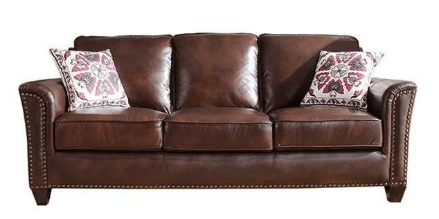 🚚 Brand new leather chesterfield sofa