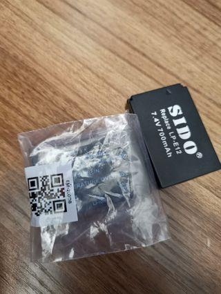 Canon LP-e12 副廠電兩粒