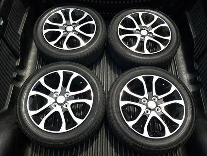 Sport Rim Myvi New with Tyres 4pcs