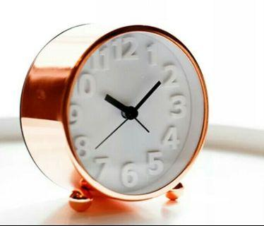 Minimalist Rose Gold Alarm Clock