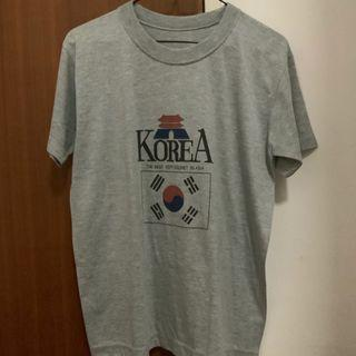 🚚 Grey Korean Graphic Tee (Freesize)