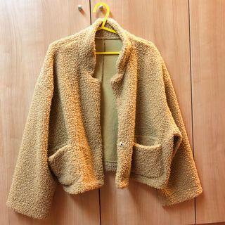 超可愛日系復古毛毛外套