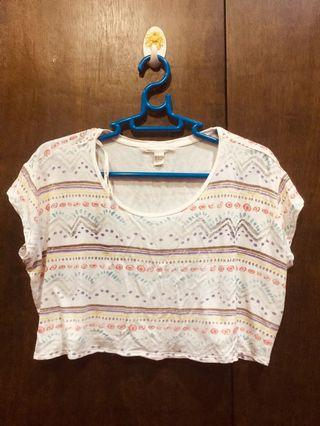 F21 Aztec Cropped Top