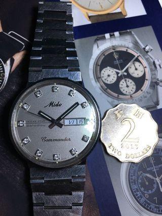 美度MiDO全正常 18K真鑽石 自動男裝ROLEX 古董錶 精工