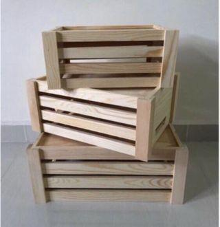 3 in 1 Wooden Crates