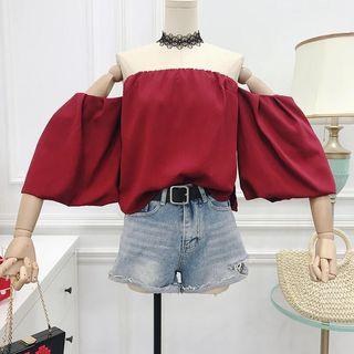 Off Shoulder Top Red
